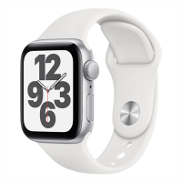 Apple Watch SE_Silver Aluminum Case with White Sport Band