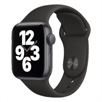 Apple Watch SE_Space Grey Aluminum Case with Black Sport Band