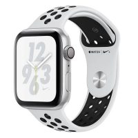 Apple Watch Series 4 Nike+_Saf Platin-Siyah Nike Spor Kordon
